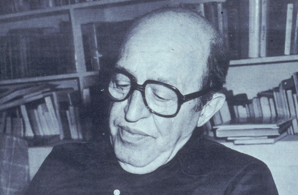 A picture of one of Louis's biggest enthusiasts, art critic Clement Greenberg