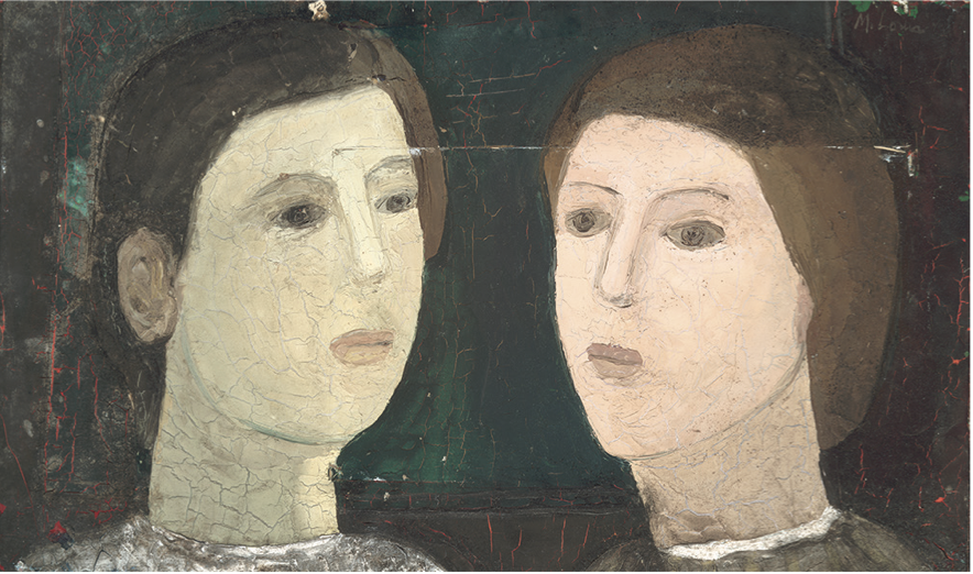 One of Louis's early works, Untitled (Two Women) (1940-1941)