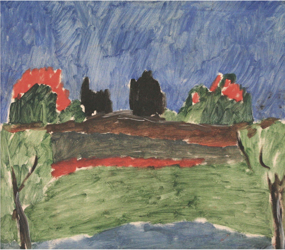 Another one of Louis's early works, Landscape